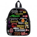 Rock Bands Collage - School Bag (Small)