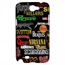 Rock Bands Collage - Samsung Galaxy Note 2 Case