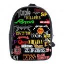 Rock Bands Collage - School Bag (Large)
