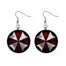 Resident Evil Umbrella Corp - Button Earrings