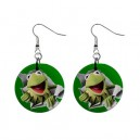 The Muppets Kermit The Frog - Button Earrings
