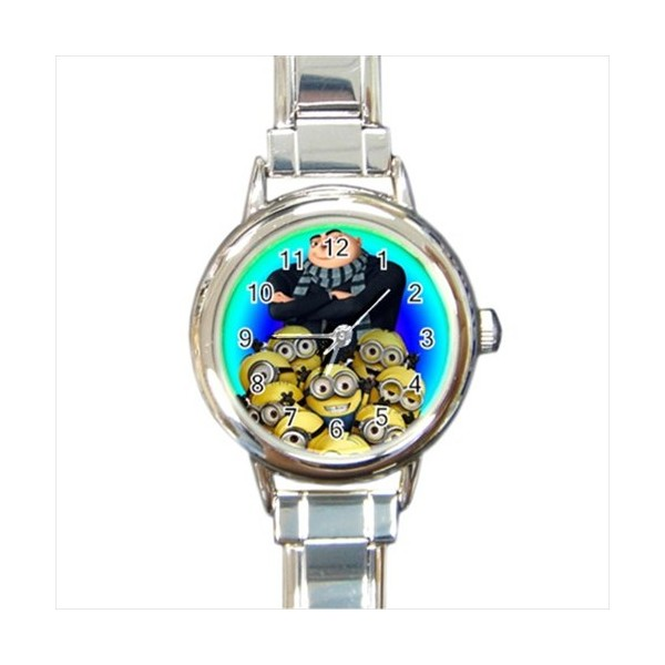 Despicable me round italian charm watch stars on stuff for Despicable watches