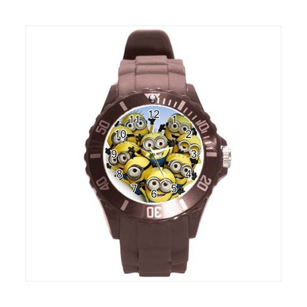 Despicable me ice style round tpu large sports watch stars on stuff for Despicable watches