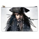 Johnny Depp/Jack Sparrow - Large Cosmetic Bag