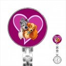 Disney Lady And The Tramp - Stainless Steel Nurses Fob Watch