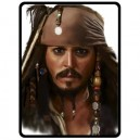 Johnny Depp/Jack Sparrow - Large Throw Fleece Blanket