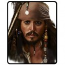 Johnny Depp/Jack Sparrow - Medium Throw Fleece Blanket
