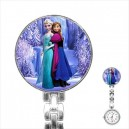 Disney Frozen Elsa And Anna - Stainless Steel Nurses Fob Watch