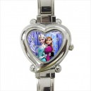 Disney Frozen Elsa And Anna - Heart Shaped Italian Charm Watch