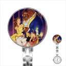 Disney Beauty And The Beast - Stainless Steel Nurses Fob Watch