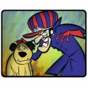 Dastardly And Mutley - Medium Throw Fleece Blanket
