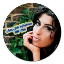 "Amy Winehouse - 5"" Round Magnet"