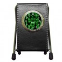 The Matrix - DeskTop Clock Pen Holder