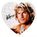 Patrick Swayze Signature - 75 Piece Heart Shaped Jigsaw Puzzle