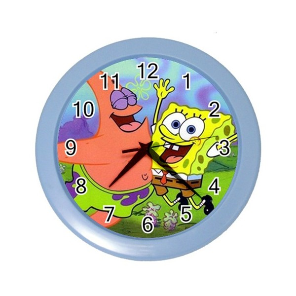 Spongebob And Patrick Wall Clock Stars On Stuff