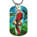 Captain Scarlet - Double Sided Dog Tag Necklace