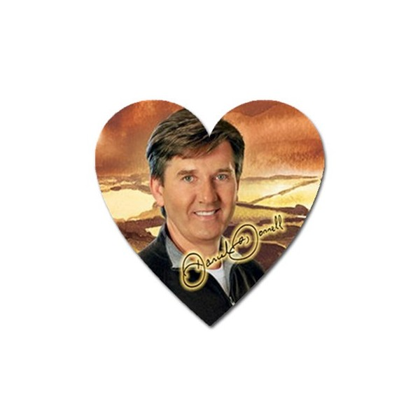 Daniel O Donnell Signature Heart Shaped Magnet Stars