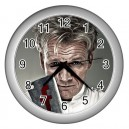 Gordon Ramsay - Wall Clock (Silver)