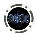 AC / DC Logo - Poker chip Card Guard
