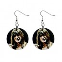 Steve Perry/Journey - Button Earrings