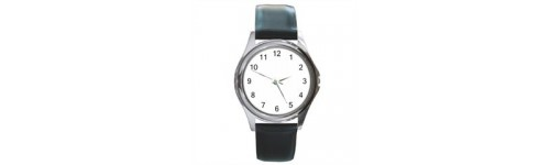 Unisex Silver-Tone Round Watches