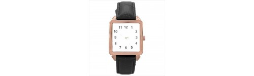 Square Unisex Rose Gold Tone Watches