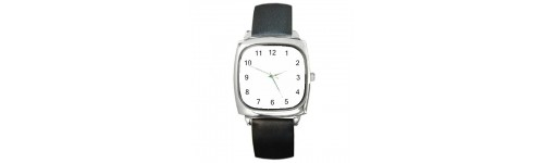 Unisex Silver-Tone Square Watches