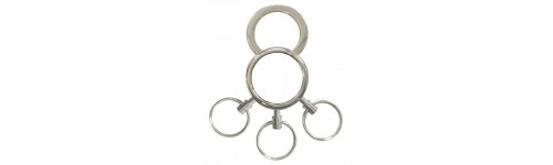 Three Ring Keyrings