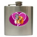 Disney Lady And The Tramp - 6oz Hip Flask