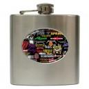 Rock Bands Collage - 6oz Hip Flask