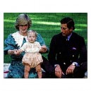 Charles And Diana With Prince William - 110 Piece Jigsaw Puzzle