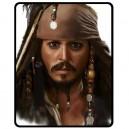 Johnny Depp/Jack Sparrow - Medium Throw Fleece Blanket