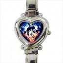 Disney Mickey Mouse - Heart Shaped Italian Charm Watch