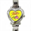 Roobarb And Custard - Heart Shaped Italian Charm Watch