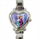 Disney Frozen Elsa And Anna - Heart Shaped Italian Charm Watch