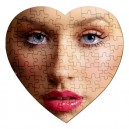 Christina Aguilera - 75 Piece Heart Shaped Jigsaw Puzzle