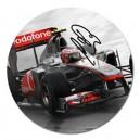 "Jenson Button Signature - 5"" Round Magnet"