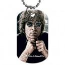 John Lennon - Double Sided Dog Tag Necklace