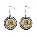 Queen Elizabeth II Diamond Jubilee 60 Years - Button Earrings